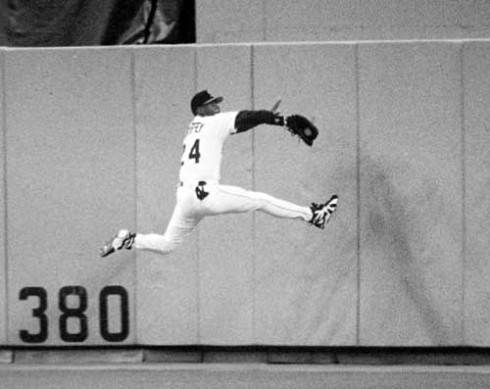 The catch he broke his wrist on years back. Yes he did catch it too.